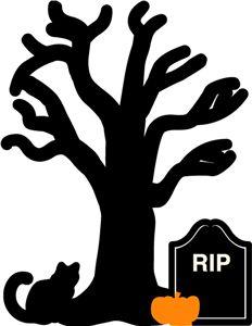 Silhouette Online Store - View Design #18438: echo park halloween tree scene