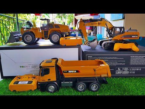 Mobil Truk Tronton Muat Pasir Batu Loader Beko Keruk Huina Rc Youtube Mobil Truk Hiburan