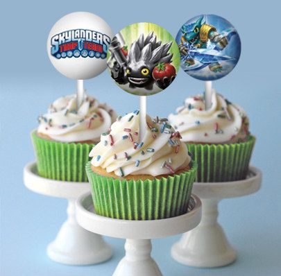 Skylanders Trap Team Personalized Cupcake by tntcreativestudio