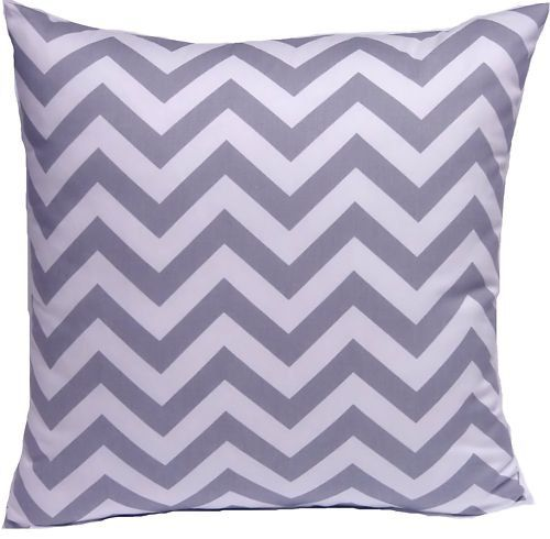 Gray Chevron Pillows Set of 2 Gray Chevron by FloatingHearts