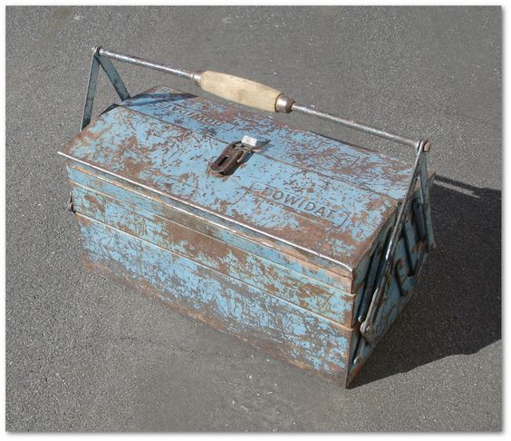 Vintage Antique DOWIDAT Tools Germany Tool Box Case Chest - Similar to Hazet 190
