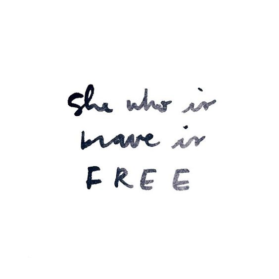 A reminder to be brave and free. #trueandco