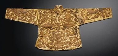 An Extremely Rare And Fine Gold Thread 'Eight Emblems' Ceremonial Surcoat, Ma…
