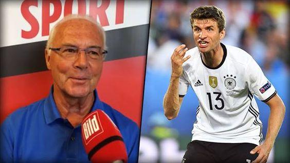 """Franz Beckenbauer: """"Wir haben noch ZWEI Spiele. Ich gehe davon aus, dass Thomas Müller dann seine Torjäger-Qualitäten unter Beweis stellen wird!"""""""