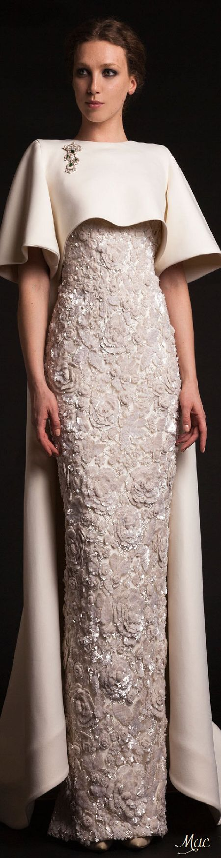 Spring 2015 Couture Krikor Jabotian jαɢlαdy // Beautiful cut -> although I would very much prefer a different fabric and color.