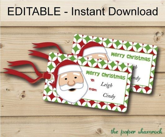 photograph about Free Printable Editable Christmas Gift Tags named 30 Photos Of Printable Xmas Present Tags Editable Template