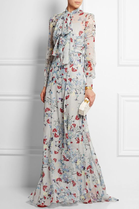 Erdem   Nellie floral-print silk-chiffon gown   NET-A-PORTER.COM: