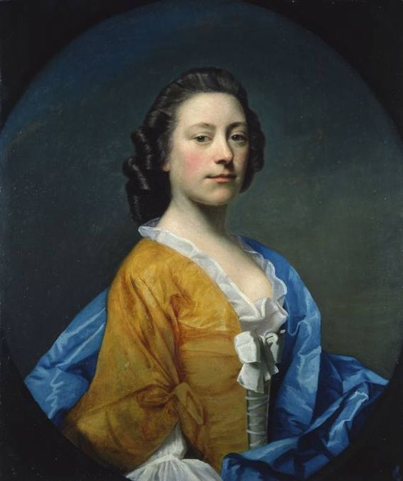 Allan Ramsay Miss Janet Shairp, 1750 olio su tela, 76,2 x 63,4 cm Aberdeen Art Gallery & Museums Collections: