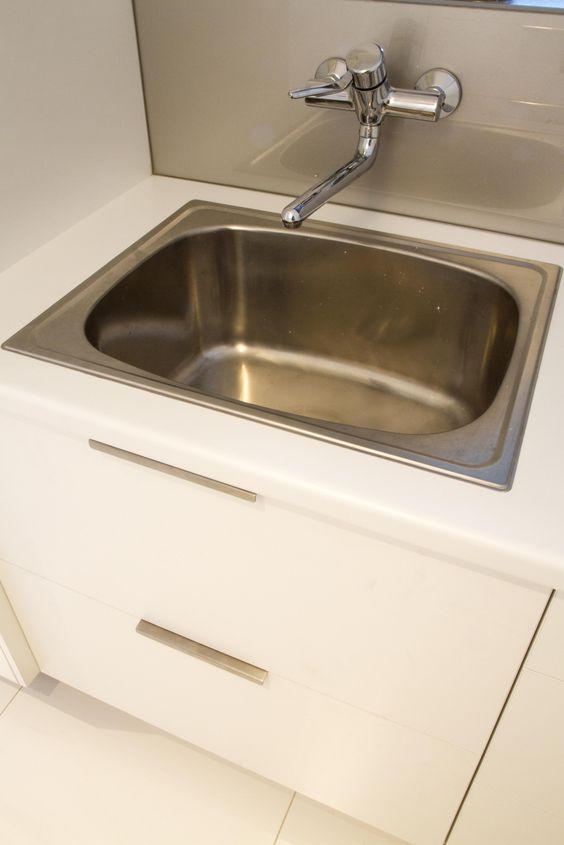 Laundry sink cabinet www.thekitchendesigncentre.com.au | Melbourne ...