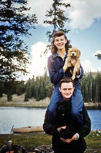 Tillett Family - Twin Lakes, Snowy Range, 1950's (via)