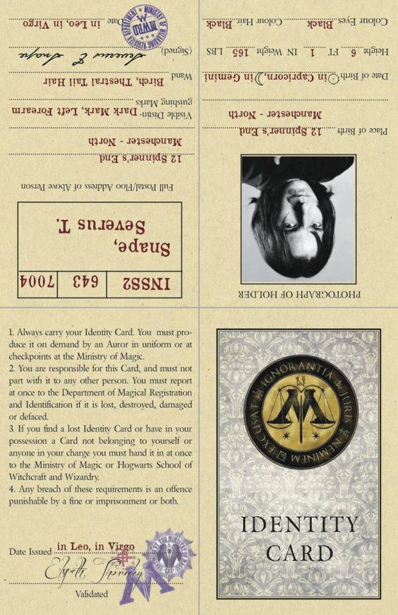 Potter frenchy party - Visuels et illustrations Harry potter - Severus Snape - professeur Rogue - printable