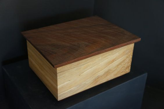 Spalted sycamore and walnut box