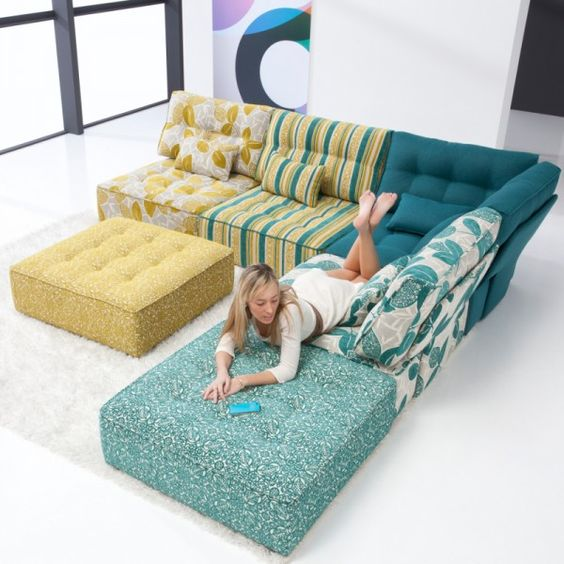 the fama arianne sofa is a fun modern modular sofa designed for