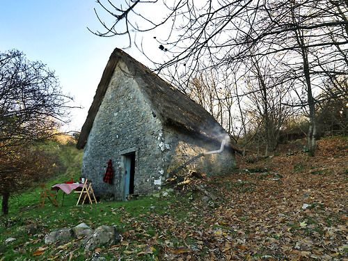 Stone & thatch cottage in Pescaglia, Italy.  Submitted by Tommaso Meschi.