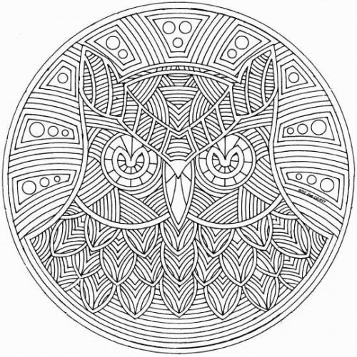 owl abstract coloring pages - photo#30