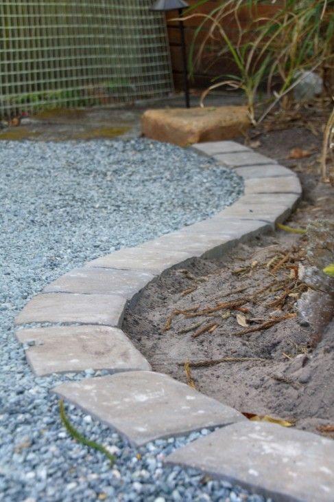 Installing Concrete Paver Edging Diy Landscaping Paver Edging Backyard Landscaping Designs