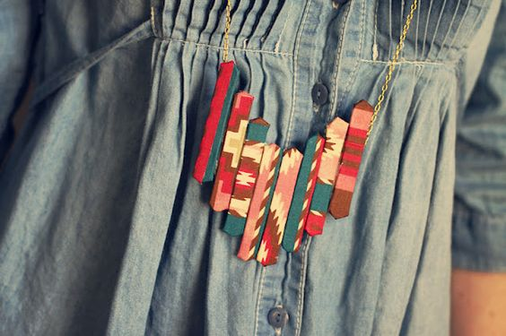 Popsicle sticks + fabric DIY by Sincerely Kinsey