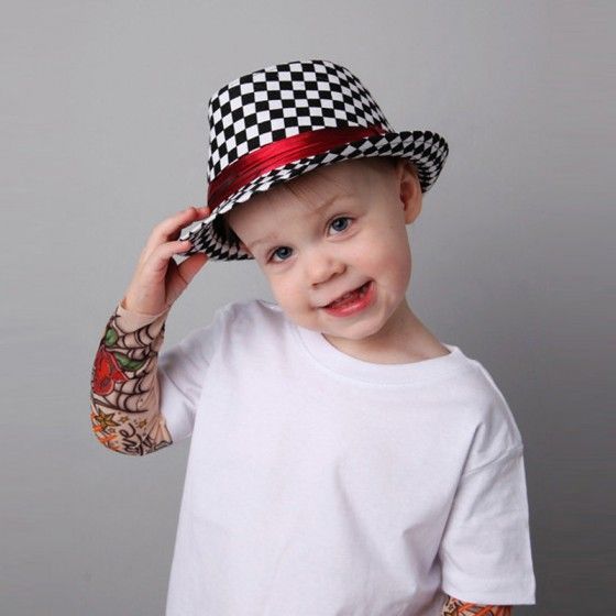 7f987c06a43 New Fashion Boy Girl Jazz Hat Topper Cool Fedora Curly Brim Baby Kids Cap  Unisex
