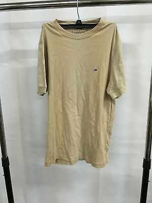 Tommy Hilfiger Beige Casual Simple Shirt Top T-Shirt, Size Small