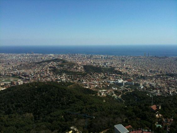 Muntanya de Tibidabo en Barcelona, Cataluña