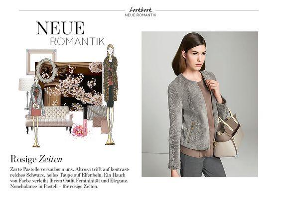 Rosige Zeiten. Pastelle verzaubern uns. Shoppen Sie tolle Looks in den angesagten Trendfarben Altrosa, Taupe und Elfenbein bei Elégance Paris.