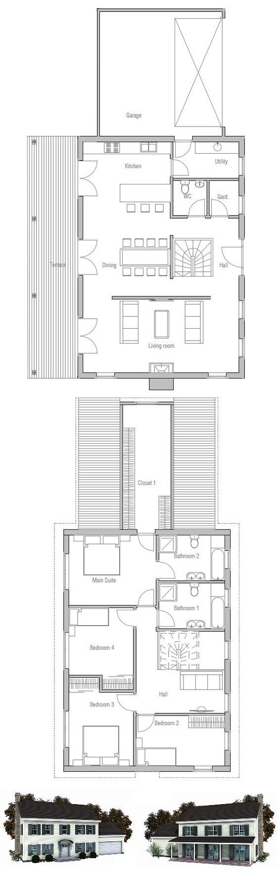 Pinterest the world s catalog of ideas for Small colonial house plans