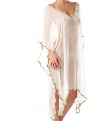 Ell & Cee's gold leaf tunic...a stunning nod to the grecian goddess and perfect for the home or beach. We love the styling on this garment.