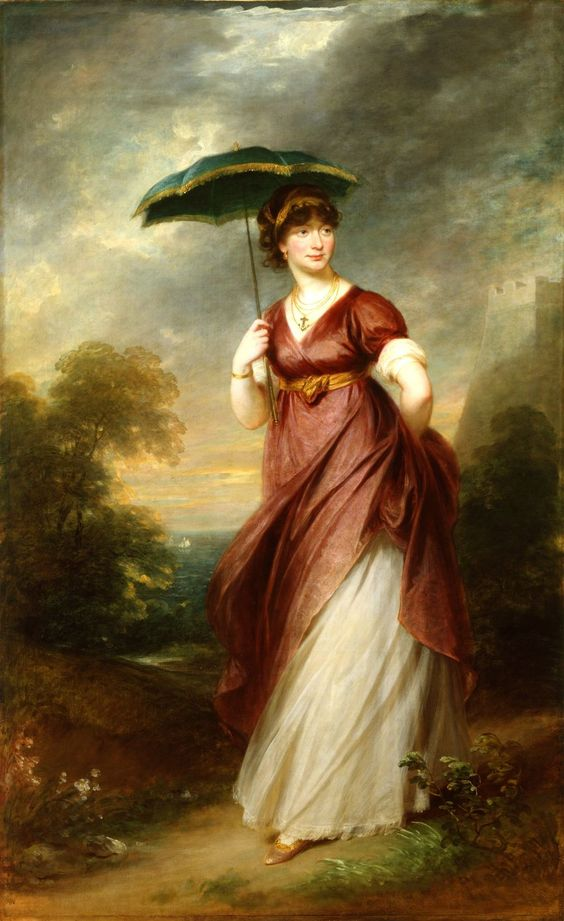 Princess Augusta, daughter-in-law of King George III and maternal great-great grandmother of Queen Elizabeth by  William Beechey (1753-1839), c 1802