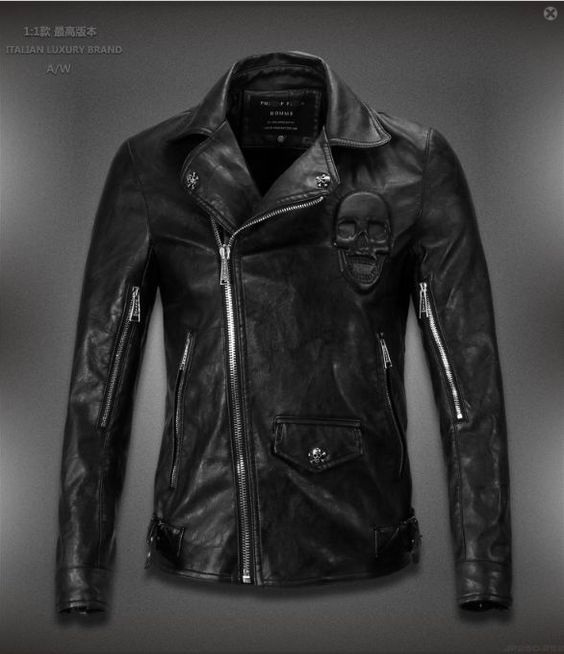 High Quality Replica of Philipp plein Mens leather Jackets Online ...