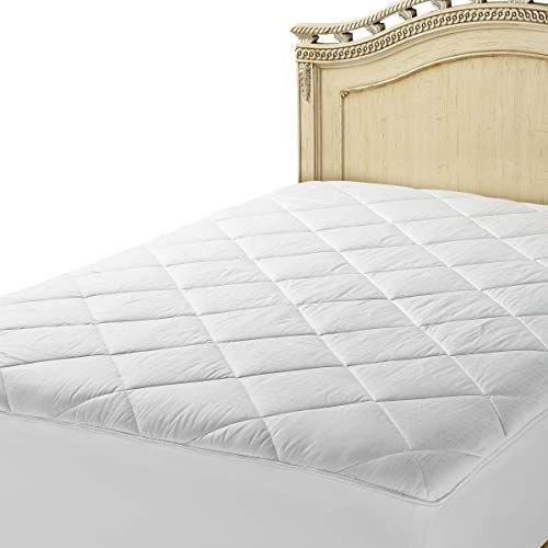 Luxurious Fitted Down Alternative Mattress Pad 100 Cotton Cover 300 Tc Quilted And Breathable Bed Mattress Toppe Mattress Mattress Pad Waterproof Mattress Pad