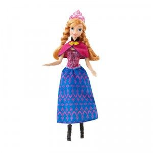 Kids 3+ can recreate scenes from the Disney movie Frozen with this musical and light-up doll.