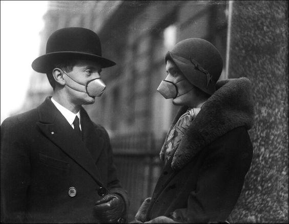 Anti-flu masks, 1920's