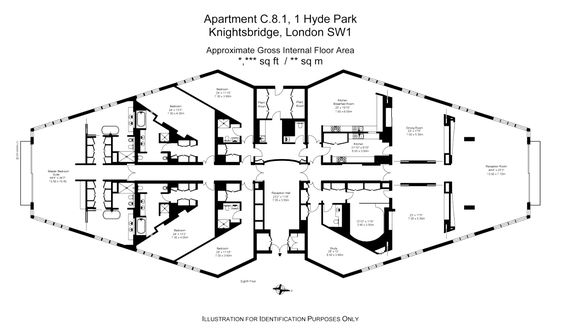 A 5 bedroom penthouse at london 39 s most prestigious address for Hyde homes floor plans