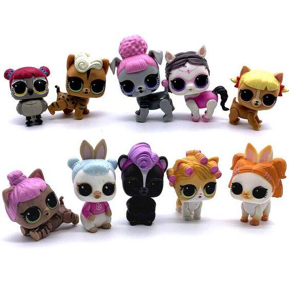 Lot 9 Lol Surprise Pets Series 4 Eye Spy Pet Cheeky Hedgehog Squeaker Sdus1