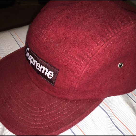 Supreme 5 panel/Camp hat Velvet burgundy Supreme 5 panel hat | great condition | ask for more pictures if interested | ❗️ AUTHENTIC ❗️ Supreme Accessories Hats