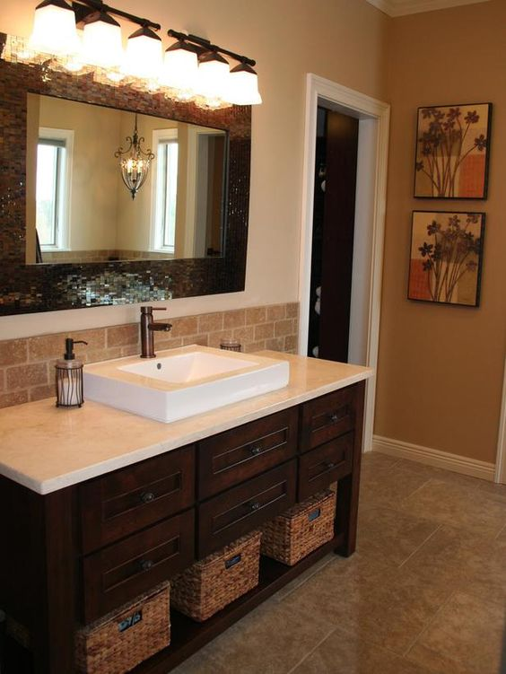 Sink with space for baskets under