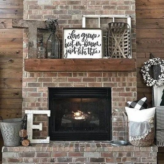 Makeover Chimney Genius Design Ideas 6363 Genius Chimney Makeover Design Ideas 63 Genius In 2020 Farmhouse Fireplace Decor Rustic Fireplace Decor Fireplace Decor
