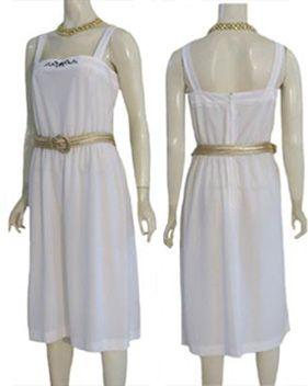 Vintage 1970s White Disco Dress and Gold Belt | NeldasVintageClothing - Clothing on ArtFire
