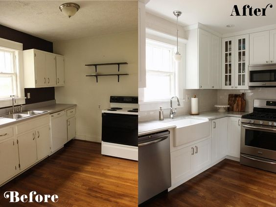 kitchen cabinets makeover low budget L shaped kitchen design ideas ...