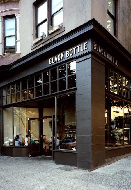 A cross between a gastropub and a chic art bar, Black Bottle is mercifully free of the meat-market vibe that plagues the rest of the neighborhood.