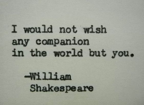 WILLIAM SHAKESPEARE Love Quote Typed On Typewriter Love