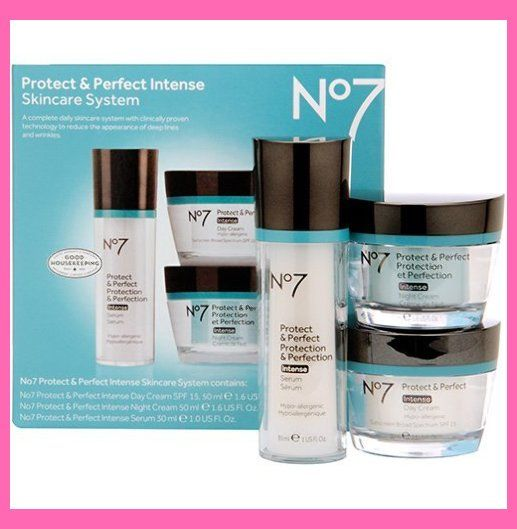 Amazon Com Boots No7 Protect Perfect Intense Kit Spf15 Skincare For 30s Innisfree S Skin Care System Skin Care Latest Anti Aging Products