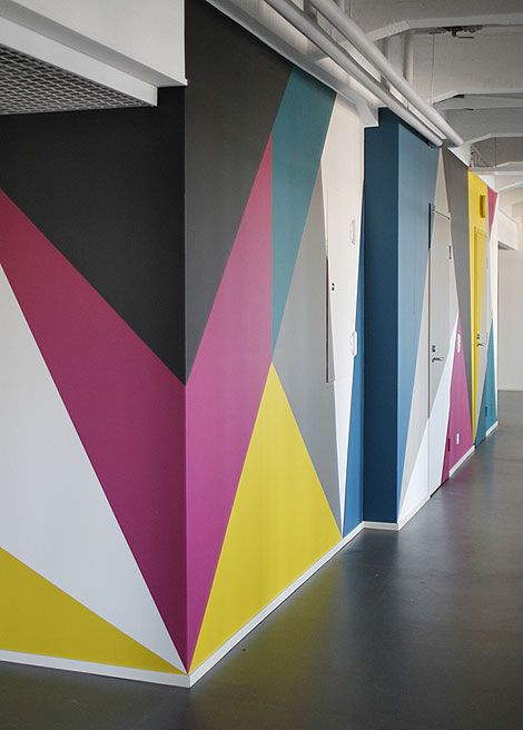 Colorful Walls Geometric For The Home Pinterest