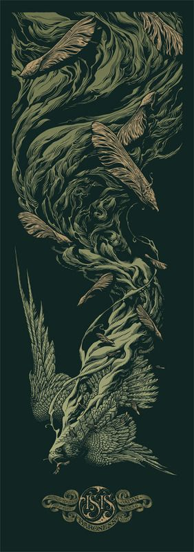 Isis / Baroness Tour Poster by Aaron Horkey