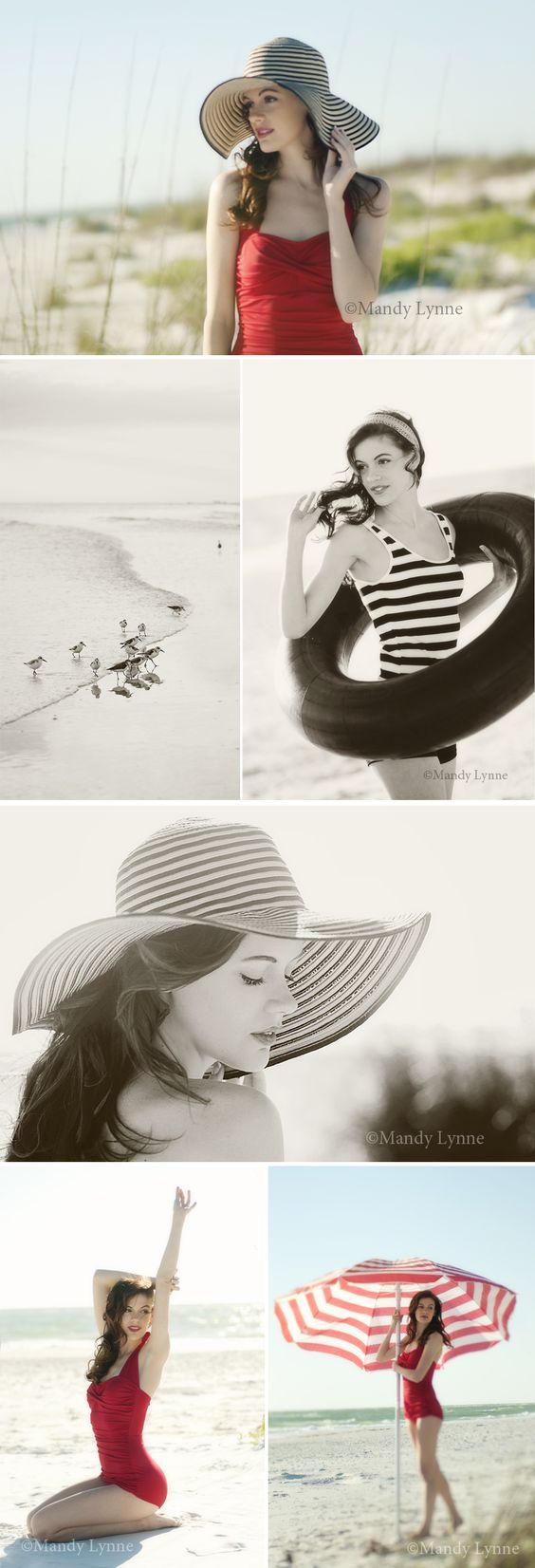 Love the sun hat and the big striped beach umbrella: Photography Senior, Beach Session, Senior Photo, Picture Idea, Vintage Senior Picture, Vintage Picture, Beach Shoot, Vintage Photoshoot, Beach Photoshoot Ideas