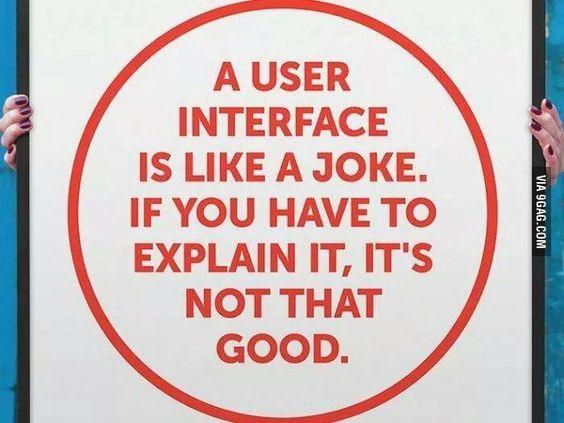 User Interface is a joke! Wow, well said.