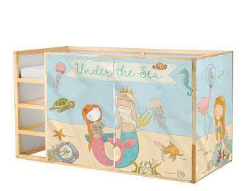 Spielhaus Ikea Kura Bett Meerjungfrau Spielhaus Vorhange