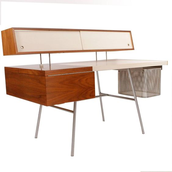 Mid Century Retro Vintage Executive Home Desk by George Nelson | Pinned by 360 Modern Furniture