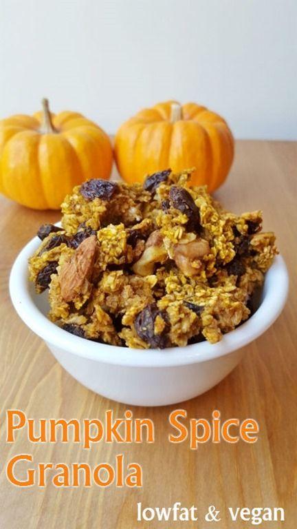 Delicious and easy Pumpkin Spice Granola Recipe. Low fat ...