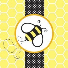 Convite de abelha para festa infantil: Products Bee, Luncheon Napkins, Bumble Bees, Educational Products, Party Ideas, Baby Shower